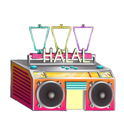 graphic library Halal food cooking dash. Boombox clipart hip hop