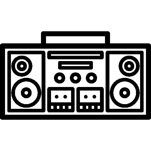 clip art transparent Boombox Icon