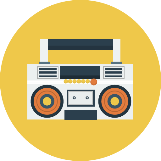 svg black and white download boombox icon