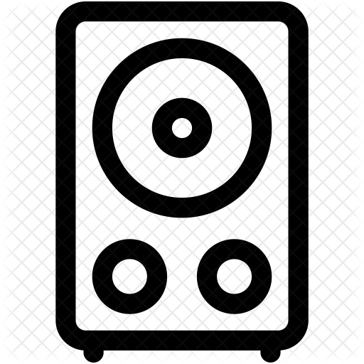 picture black and white Speaker icon school education. Boombox clipart music system