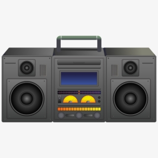 graphic download Boombox clipart music system. Svg transparent stock portable