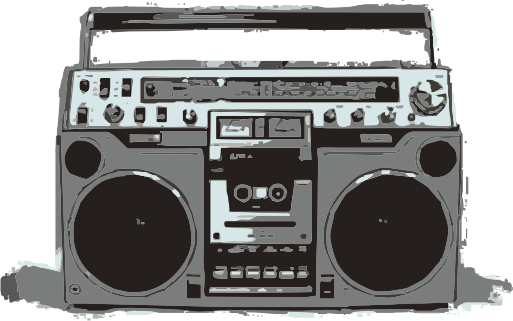 clip art freeuse download Old School Boombox Clipart