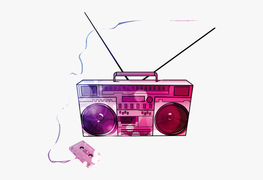clip royalty free stock Boombox clipart pink. Music compact png free