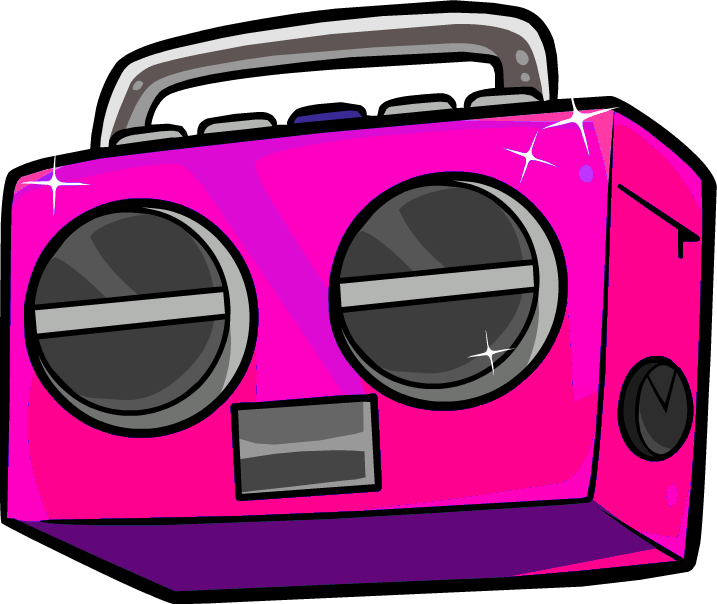 graphic library Boombox clipart pink. Image hot png cpys