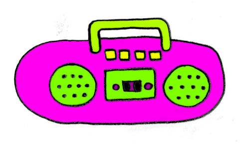 image royalty free library Sc free images at. Boombox clipart pink
