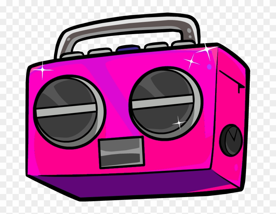clipart royalty free library Sc s radio sbaby. Boombox clipart pink