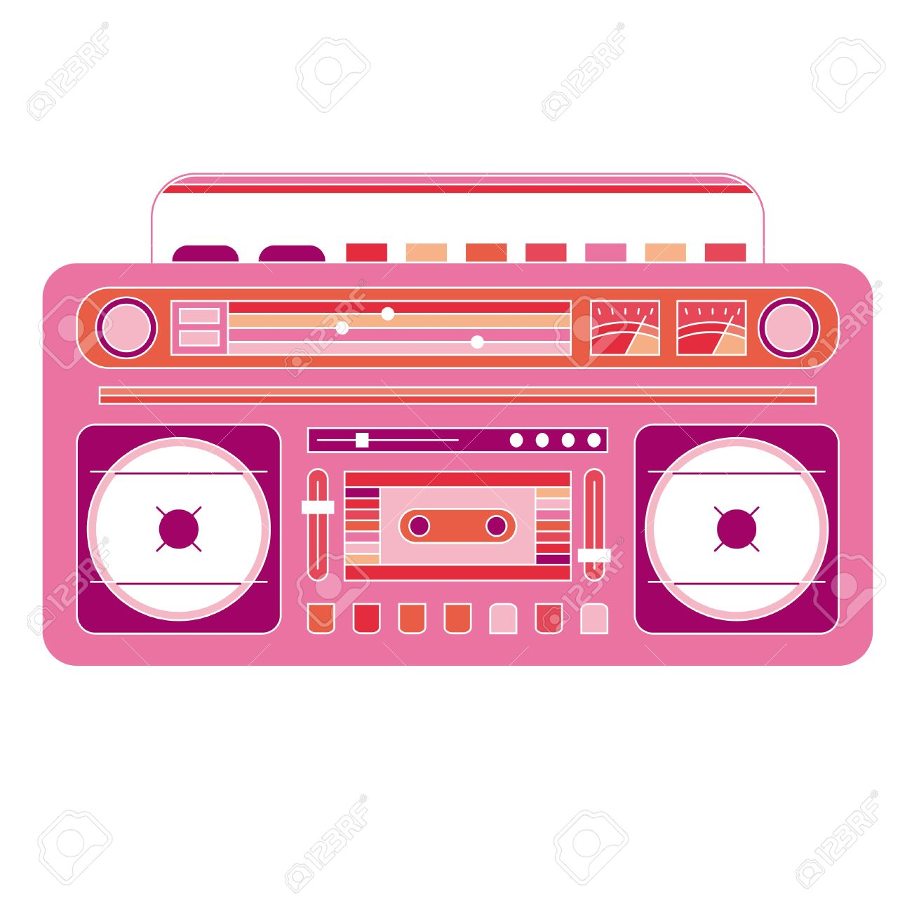png library download Free portal . Boombox clipart pink