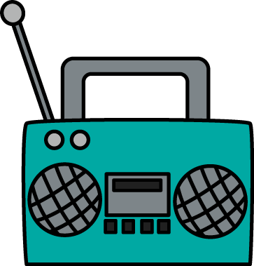 clipart black and white Clip art images player. Cassette clipart tv radio.