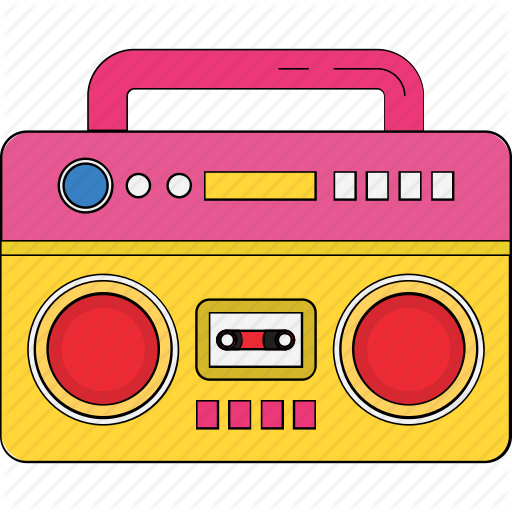 royalty free Boombox clipart pink radio. Cassette player recorder stereo