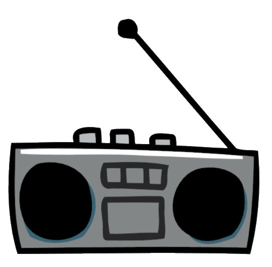 png boombox clipart portable radio #76783136