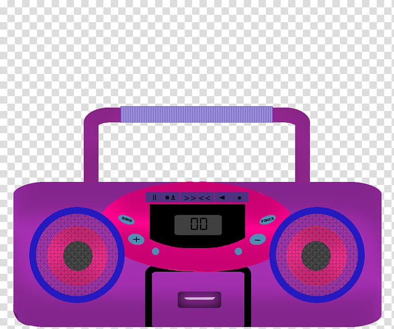 svg black and white Music pink and illustration. Boombox clipart purple
