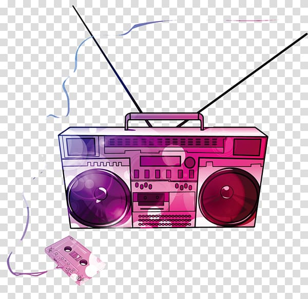 picture library download Boombox clipart purple. Music compact cassette drawing