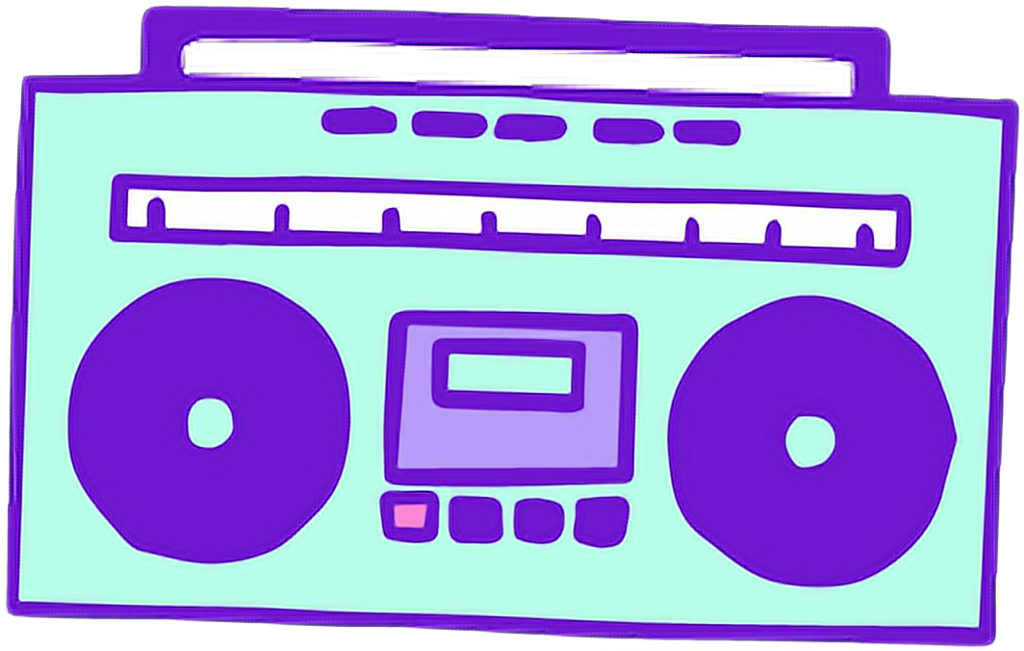 graphic black and white download Radio radyo green ye. Boombox clipart purple