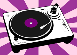 clipart royalty free stock Boombox clipart purple. Record player clip art