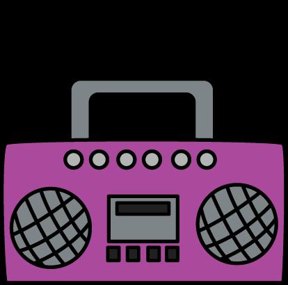 free Purple Boombox Clip Art Image