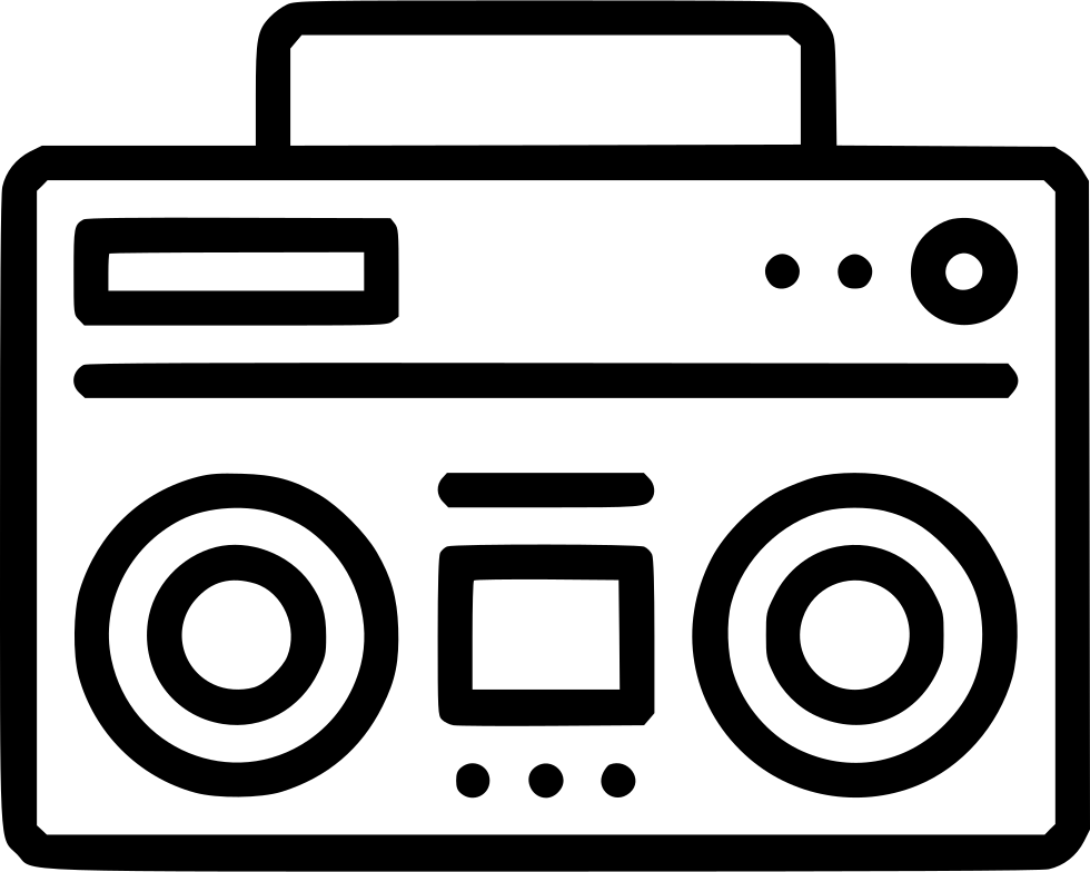 clip free library Audio Speaker Music Boombox Radio Sound Svg Png Icon Free Download