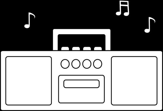 image free download Simple Radio Line Art