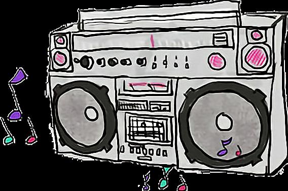 stock music boombox radio Tumblr