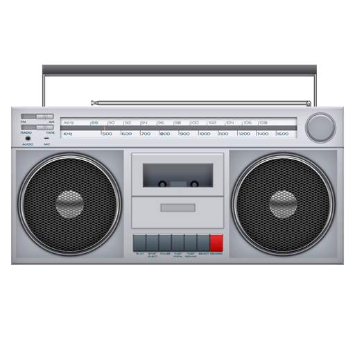 vector free stock Cassette Player transparent PNG
