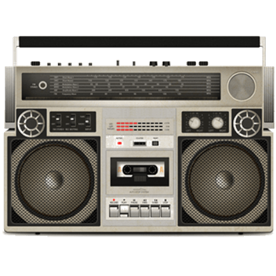clipart freeuse download Tape player transparent png. Boombox clipart vintage