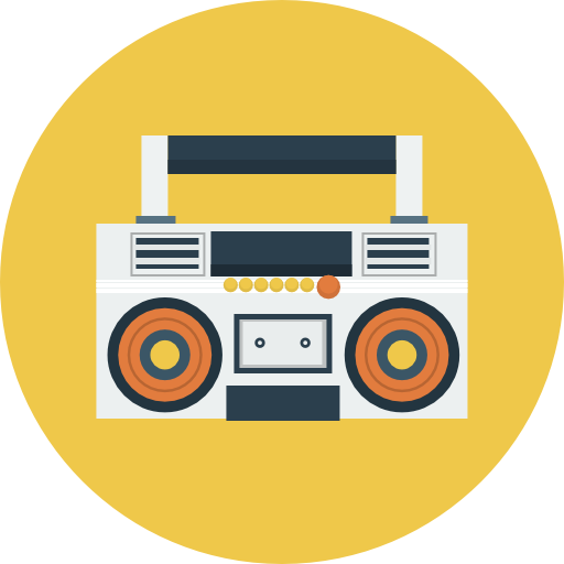 image transparent Icon flat iconset icons. Boombox clipart vintage