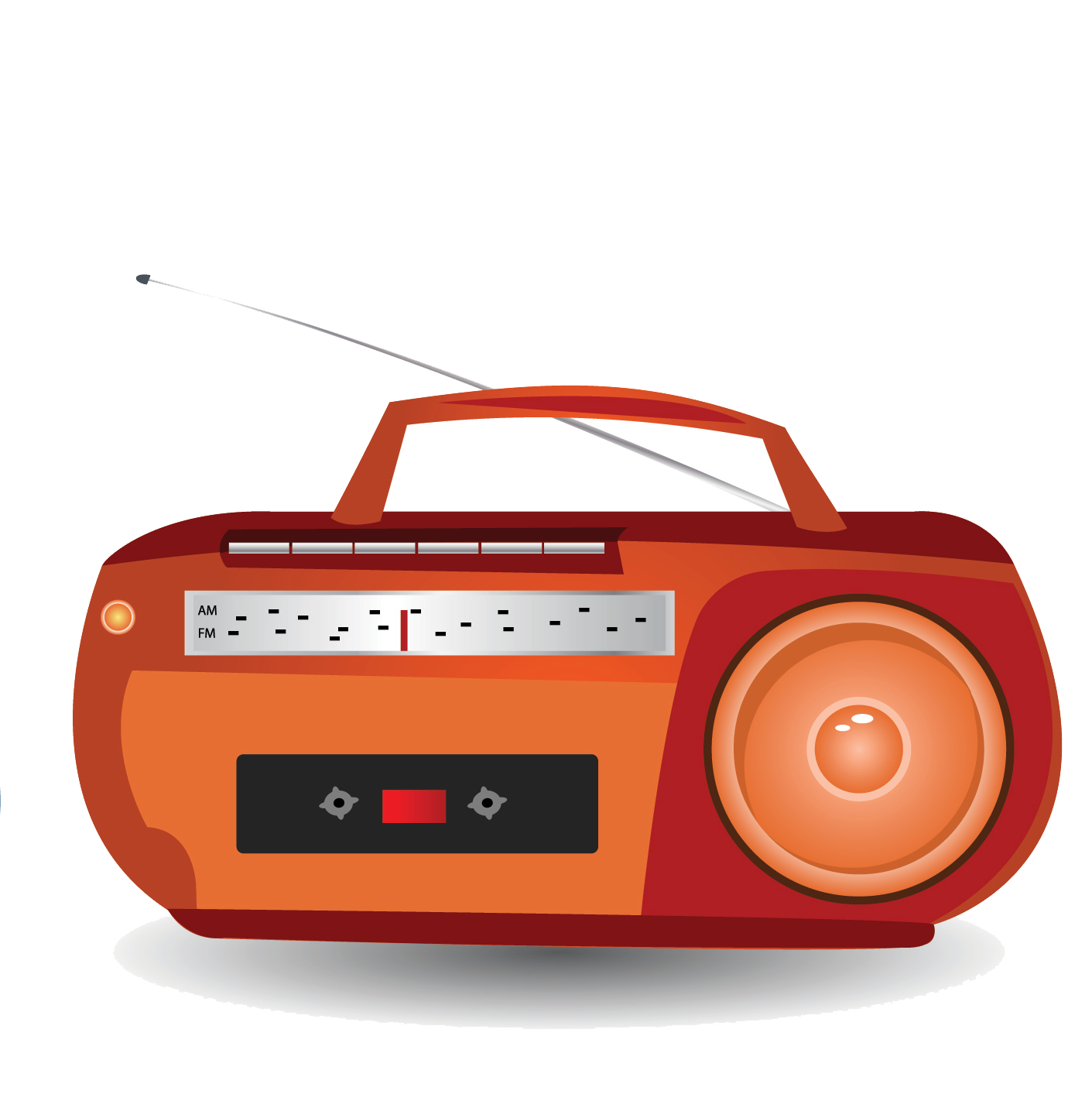 graphic free download Boombox clipart vintage. Radio cartoon transprent png