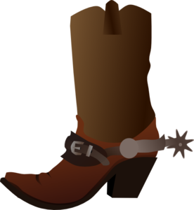 image Cowboy clip art at. Boot clipart