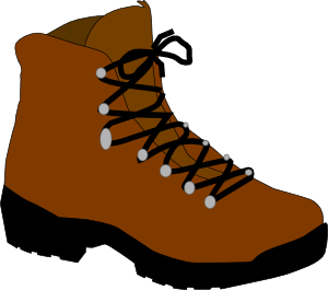 vector freeuse stock Hiking boot clip art. Hike clipart