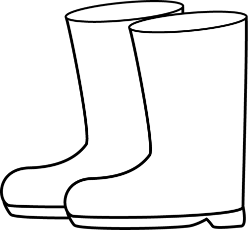 banner black and white library Boot clipart. Black and white rain