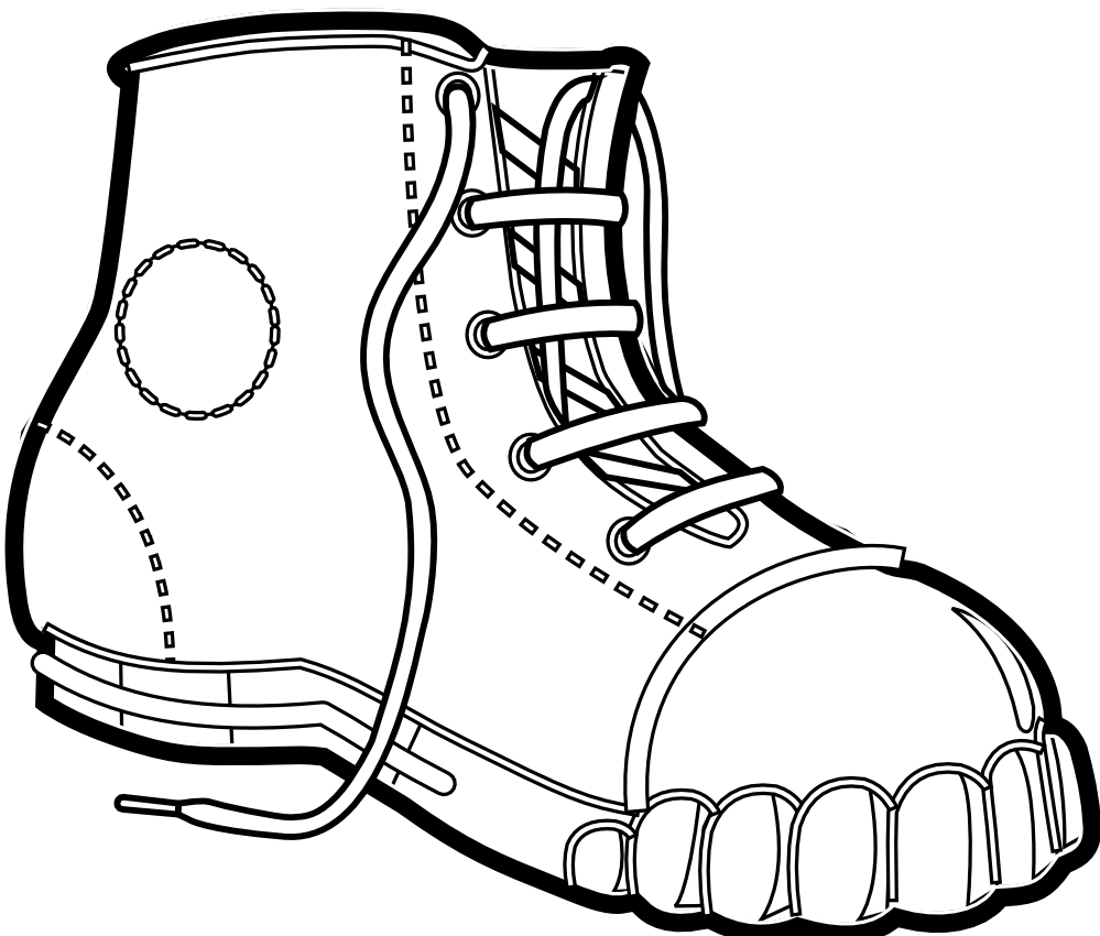 clipart library stock Boot clipart drawing. Cowboy line at getdrawings