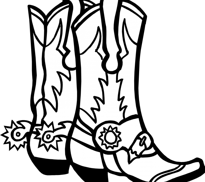 clip art freeuse stock Cowboy Boot Drawing at GetDrawings