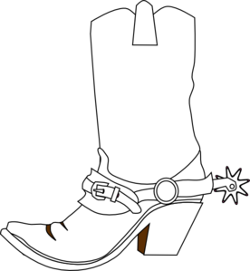 clip library stock Cowboys vector black and white. Cowboy boot clip art