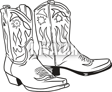 png transparent download Boot clipart drawing. Cowboy and cross ar