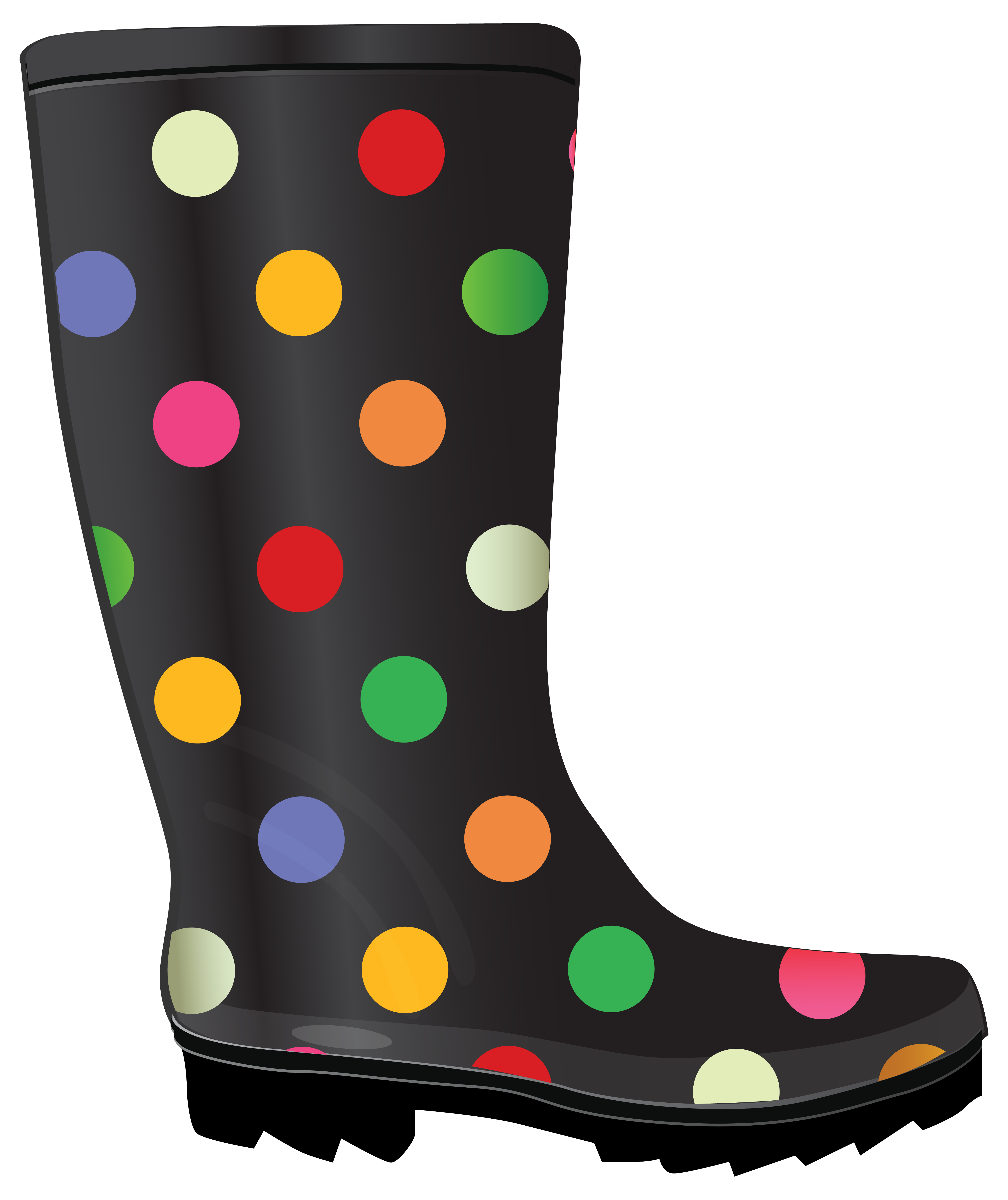 clipart transparent stock Dotted rubber boots rain. Boot clipart gardening boot