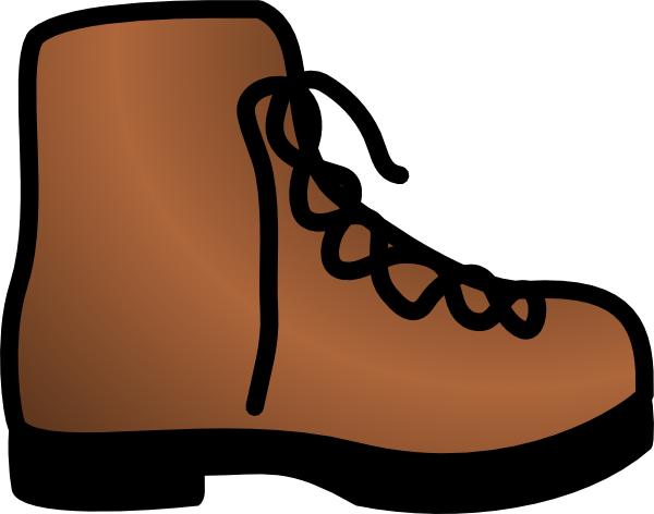 image library library Boot clipart. Simple brown clip art