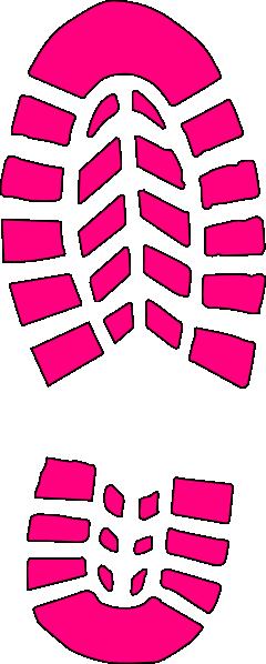 clip art transparent stock Pink Boot Print Clip Art at Clker