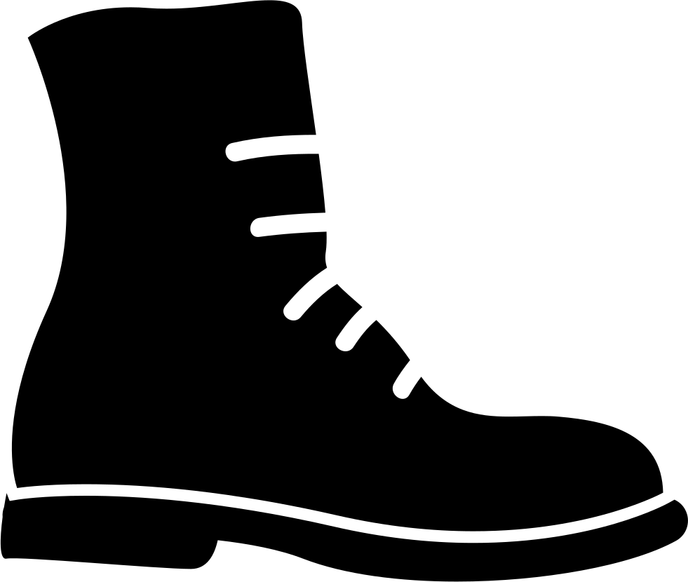 black and white Military Boot Svg Png Icon Free Download