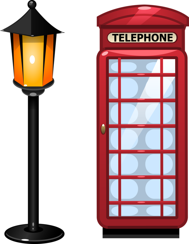 banner transparent library Phone Booth Clipart transparent