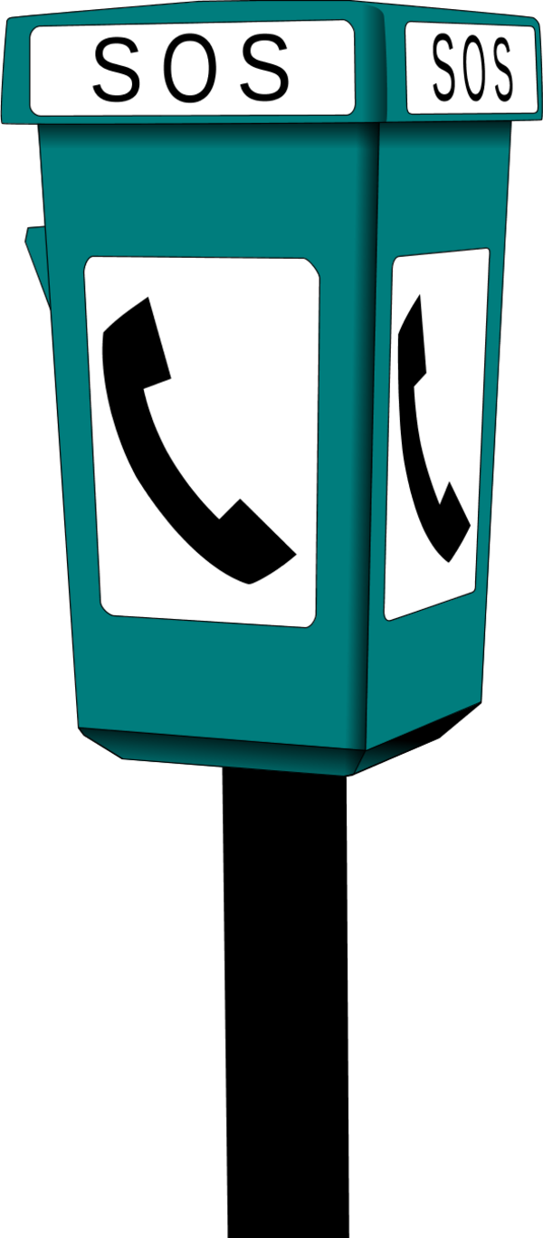 clip library stock Booth clipart.  phone with sos.