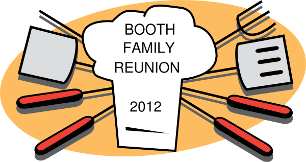 vector freeuse Family reunion clip art. Booth clipart.