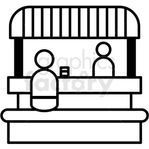svg transparent download Booth clipart black and white. Food icon royalty free