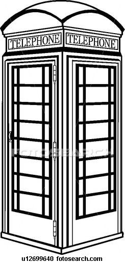 clip black and white stock British phone pics for. Booth clipart black and white