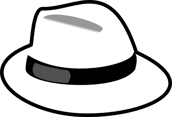 clipart library hat clip art black and white