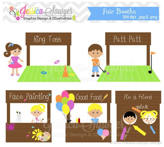 free stock Booth clipart fete stall. Instant download fair clip