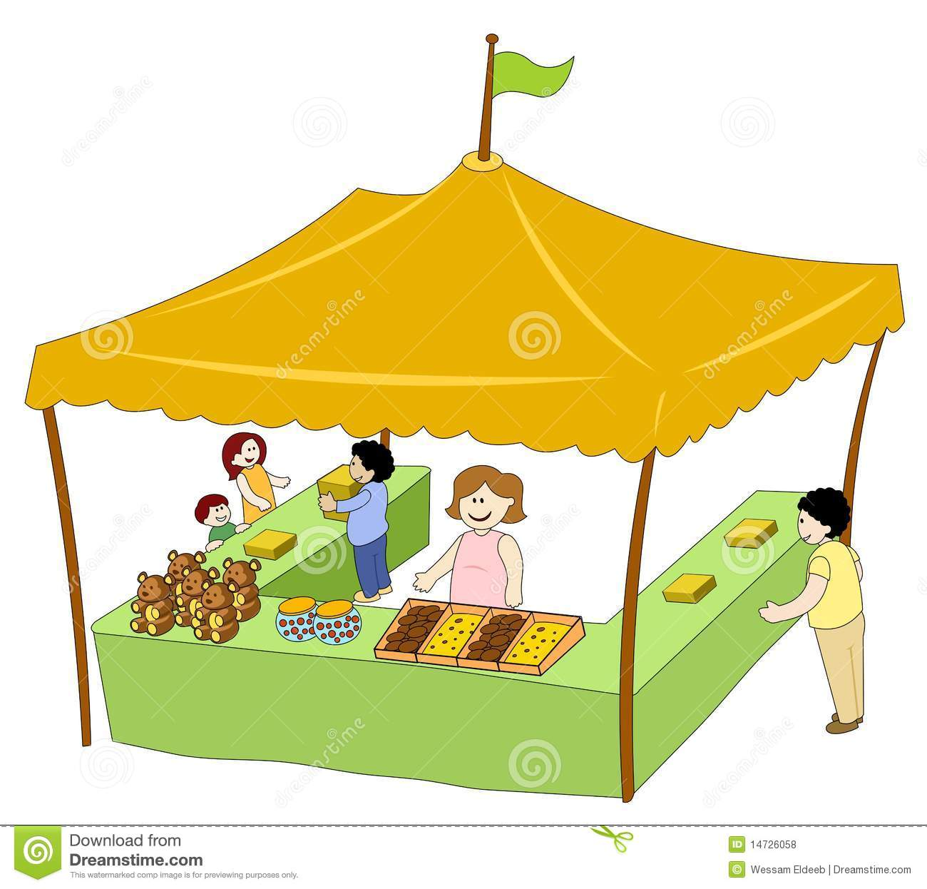 picture black and white library Booth clipart food booth. Panda free images
