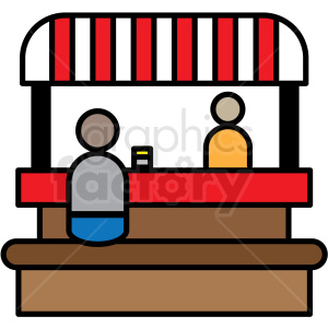 clipart stock Icon royalty free . Booth clipart food booth