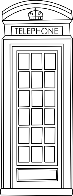 image black and white Booth clipart icon british. Telephone free digi and.