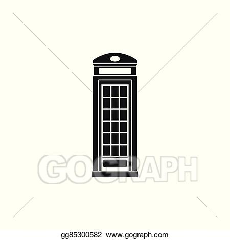 image black and white Booth clipart icon british. Vector phone simple style.
