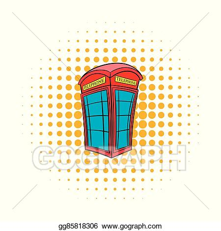 image freeuse Vector red phone comics. Booth clipart icon british.