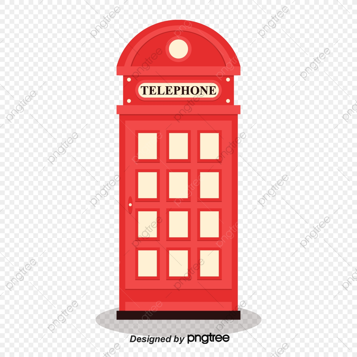 png library library Simple red phone elements. Booth clipart icon british.